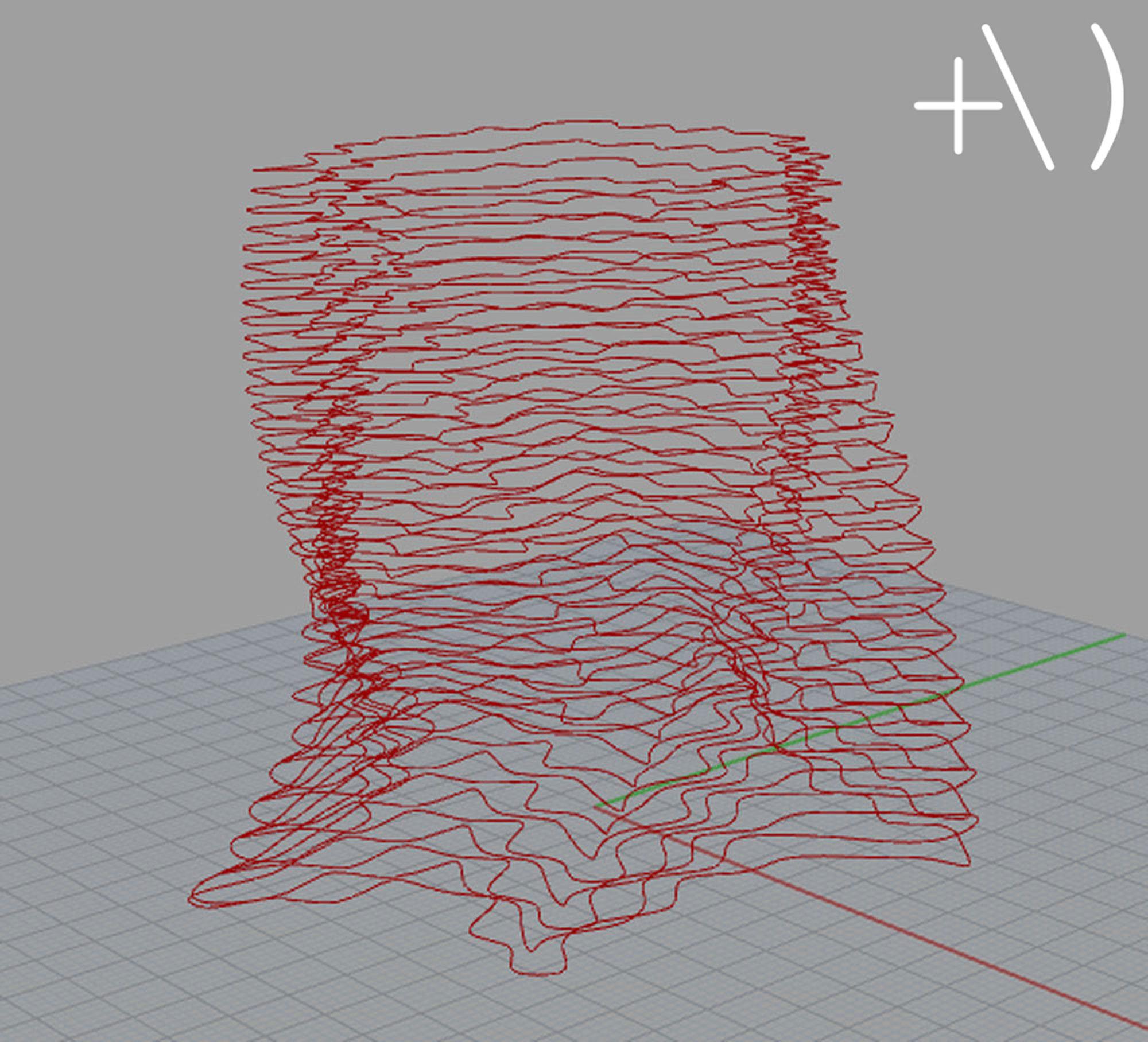 computational clay design super formula onde wireframe