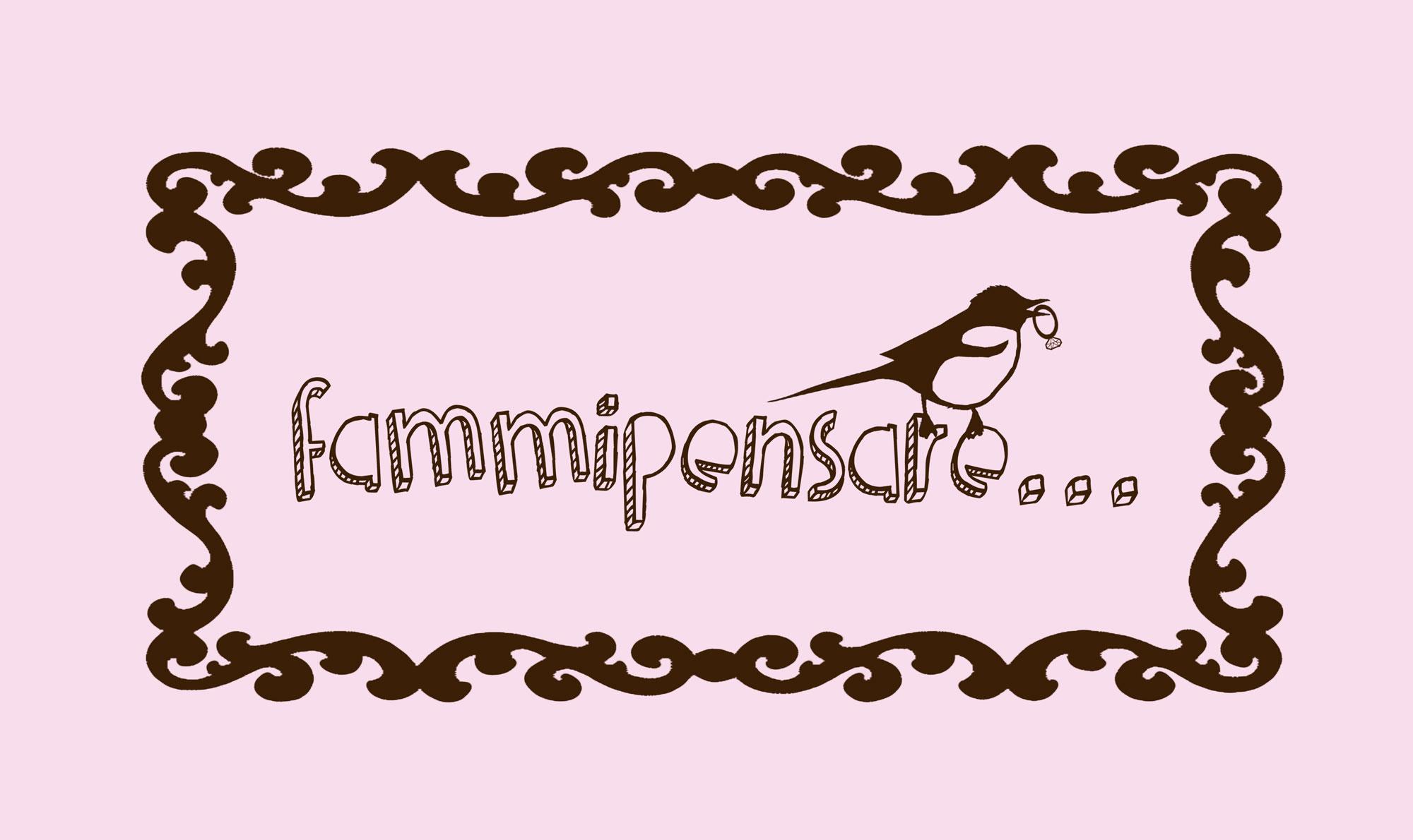 logo per brand di bijoux fammipensare