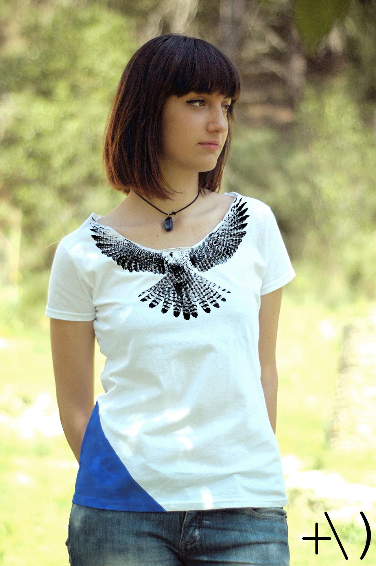 federicus 2015 female t-shirt falco blu