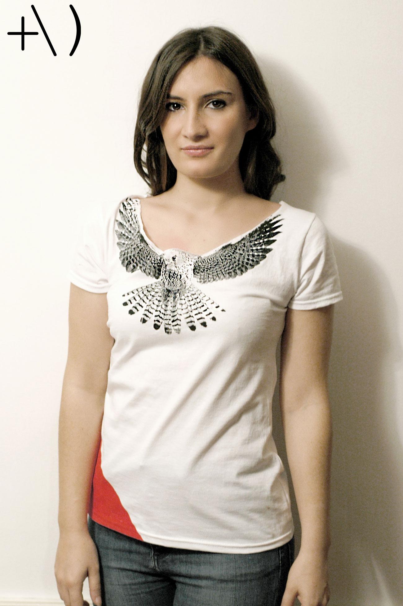 federicus 2015 female t-shirt falco rosso