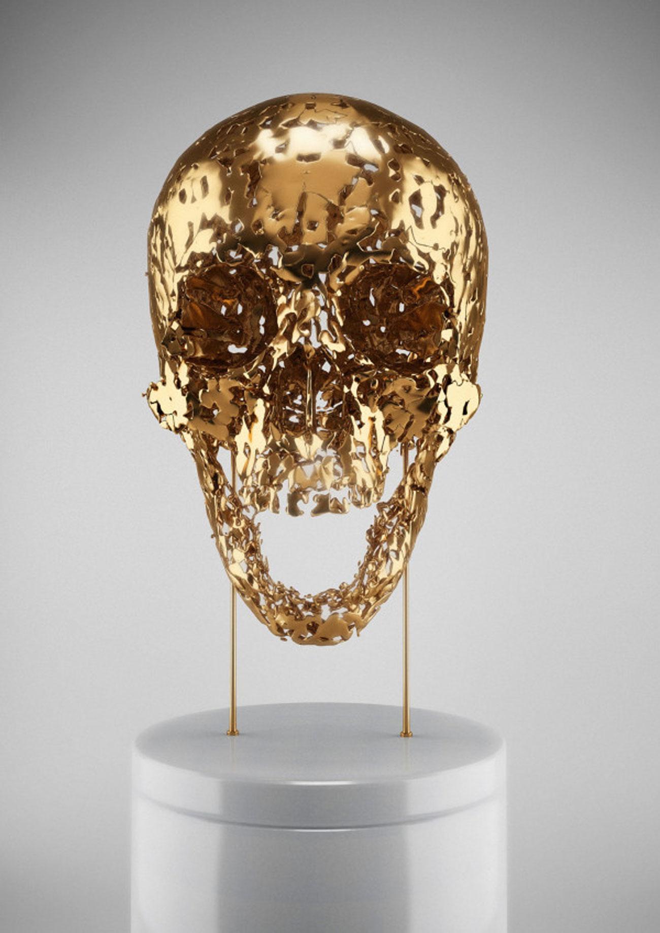 Hedi Xandt skullptures gold