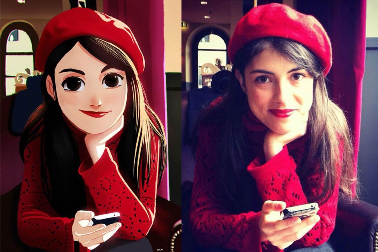 julio cesar ragazza con berretto