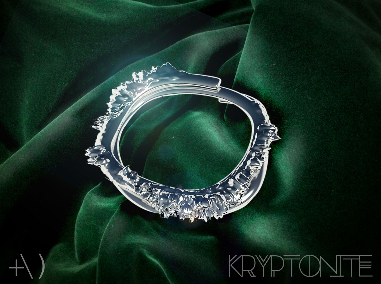 kryptonite brooch and bangle