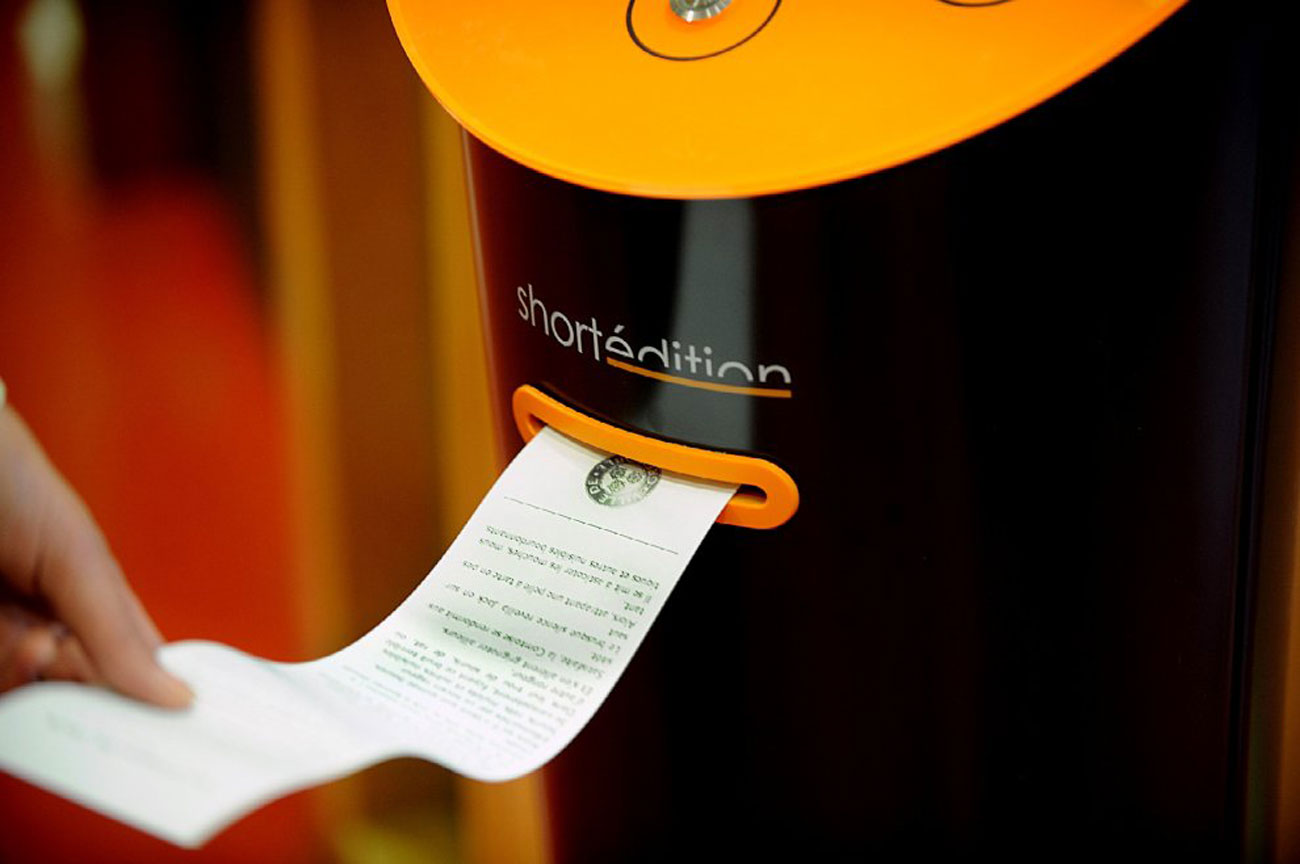 distributore automatico racconti Short Édition