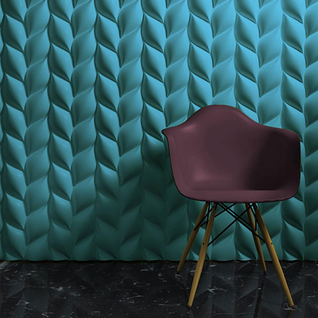 3D surface Treccia wallpaper
