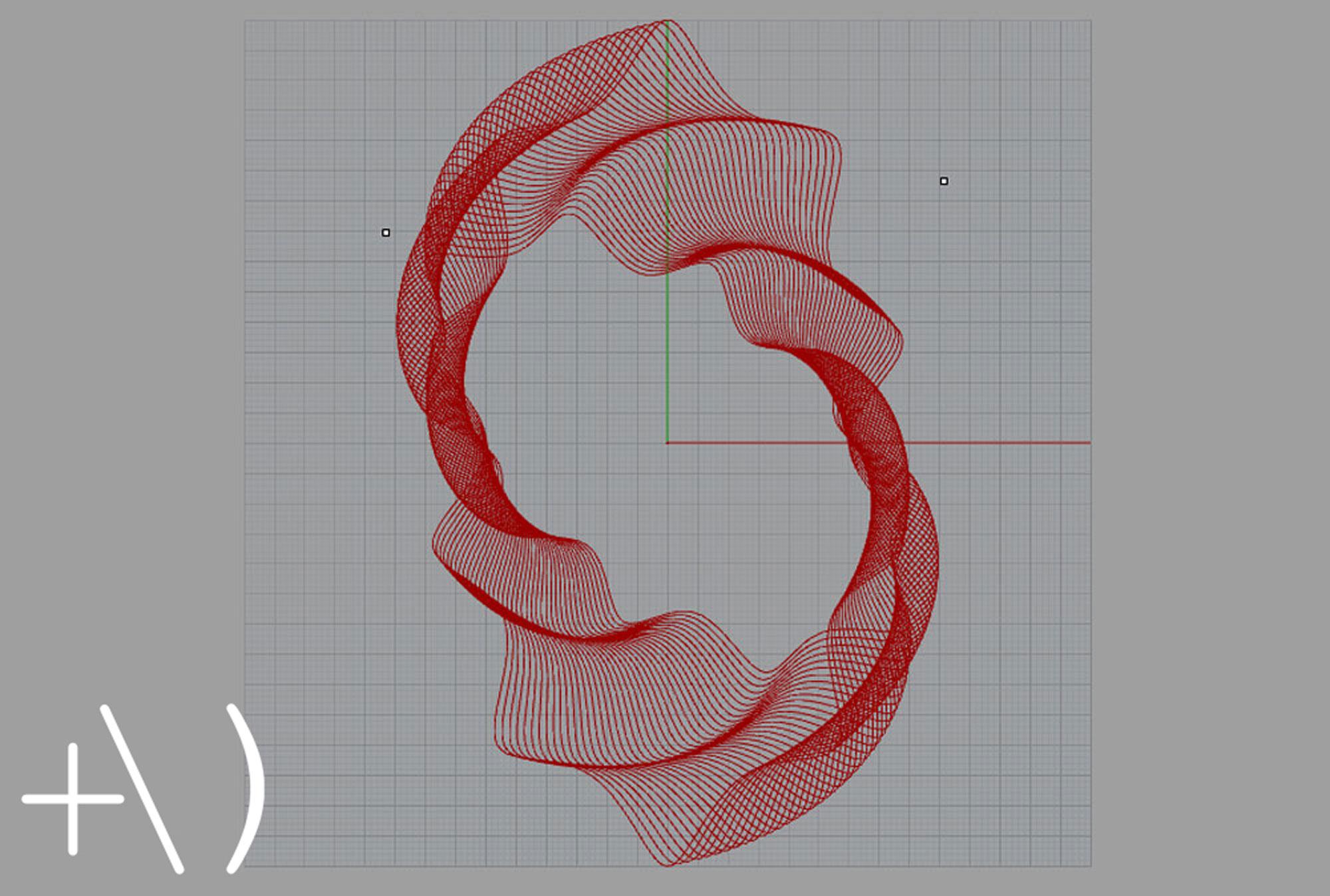 computational clay design torsione wireframe
