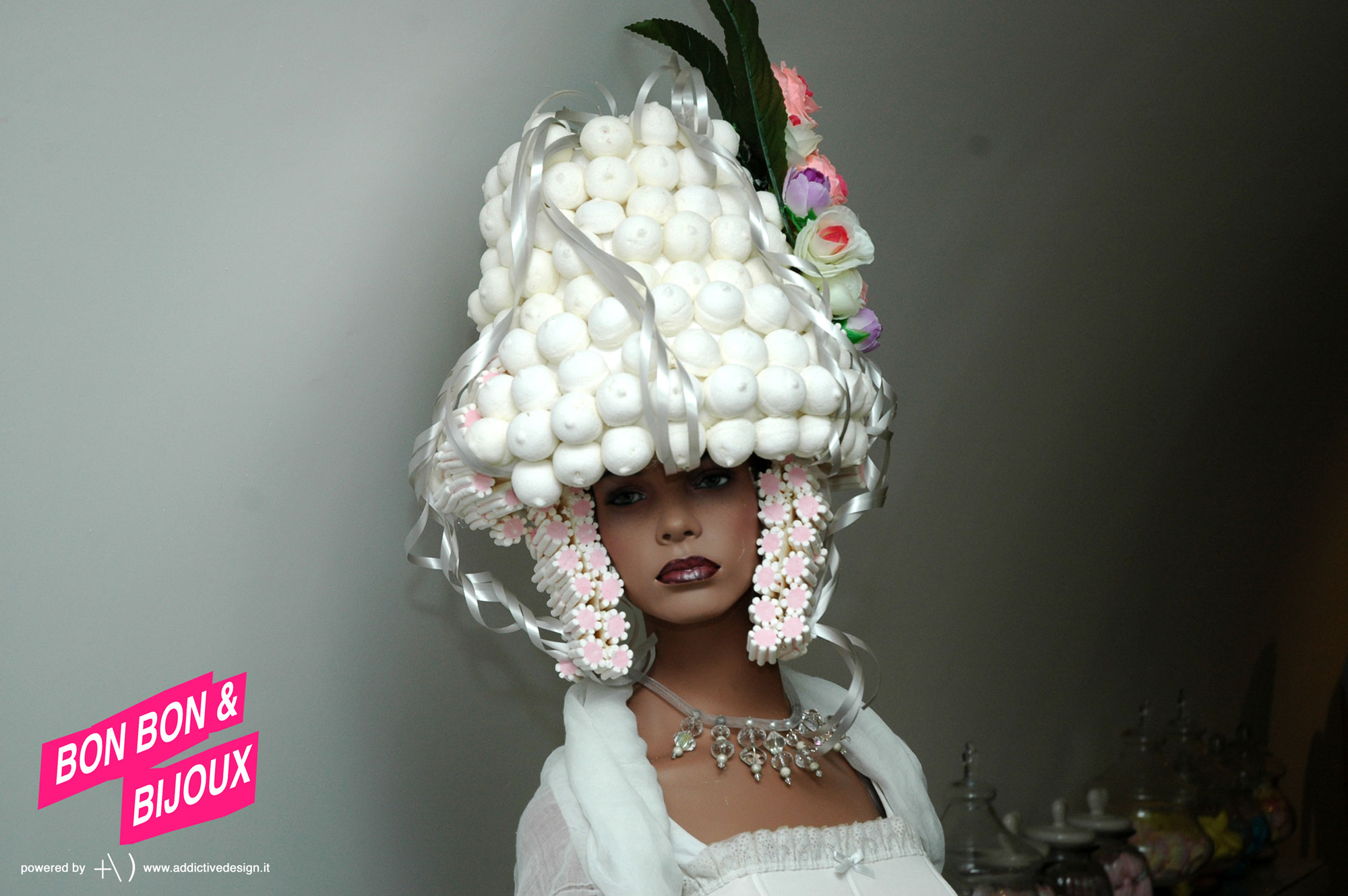 bonbon & bijoux parrucca di marshmallows