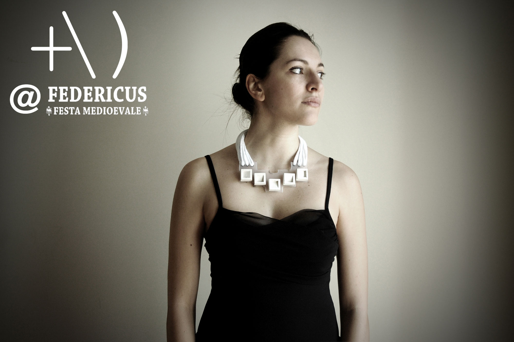 medieval inspired concrete necklace federicus