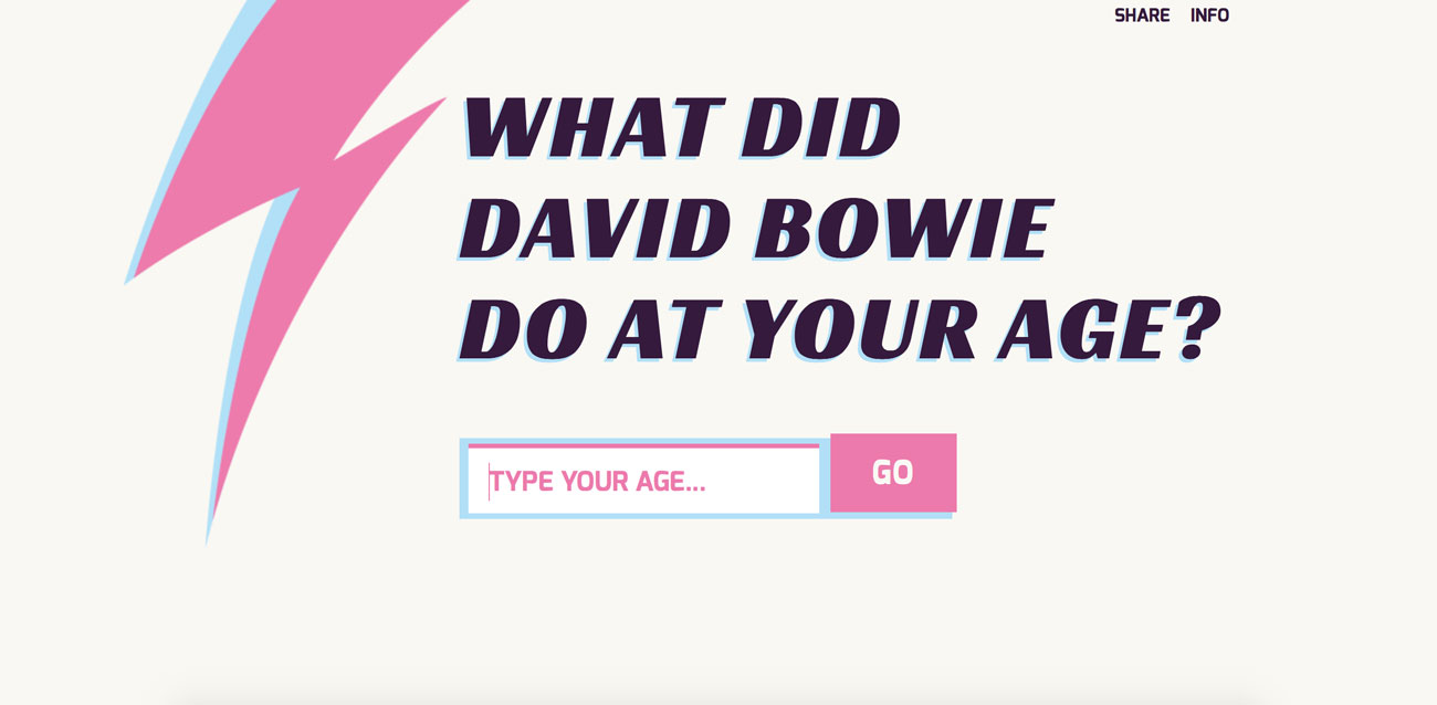 what david bowie did at your age