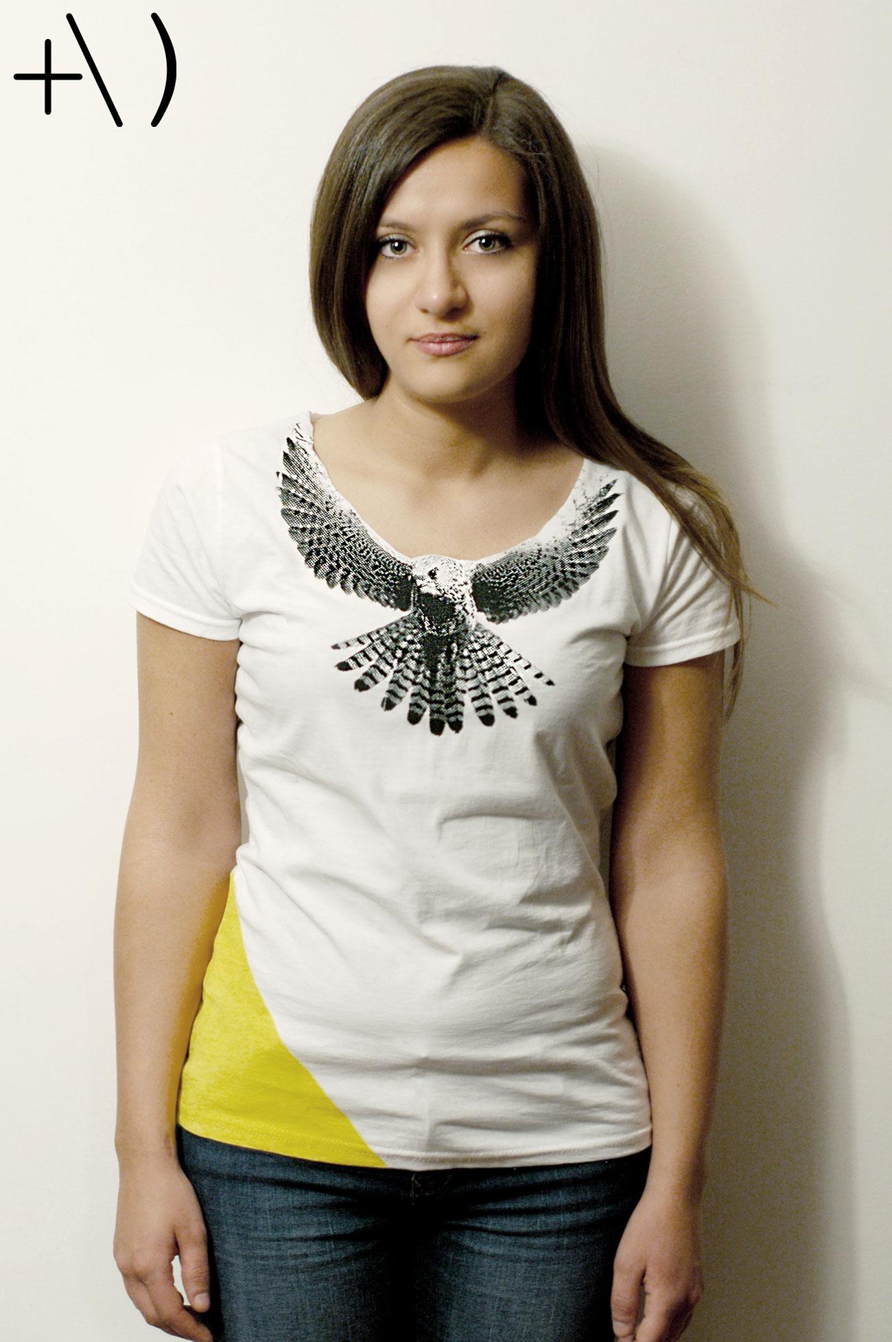 federicus 2015 female t-shirt falco giallo