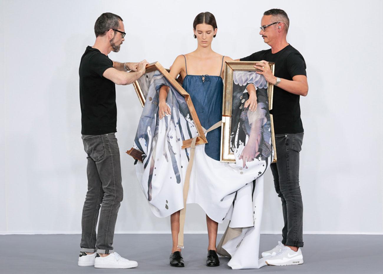 Viktor Rolf AW15 Wearable Art collection model