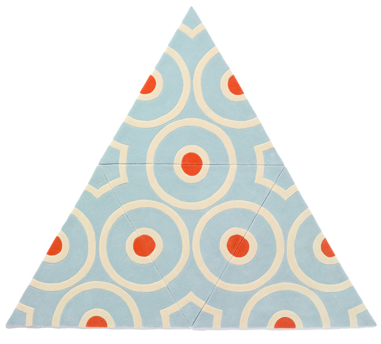 kinder ground modular carpet triangle