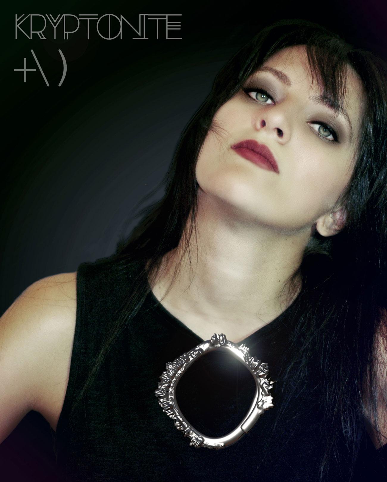 kryptonite brooch necklace
