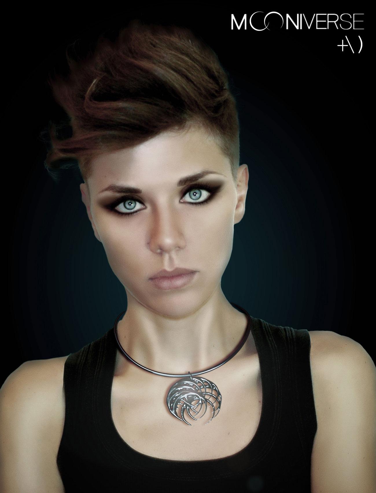 mooniverse necklace model