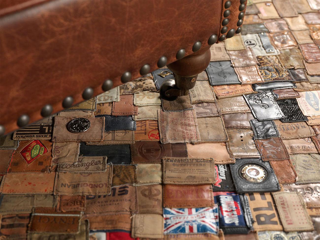 denim label carpet