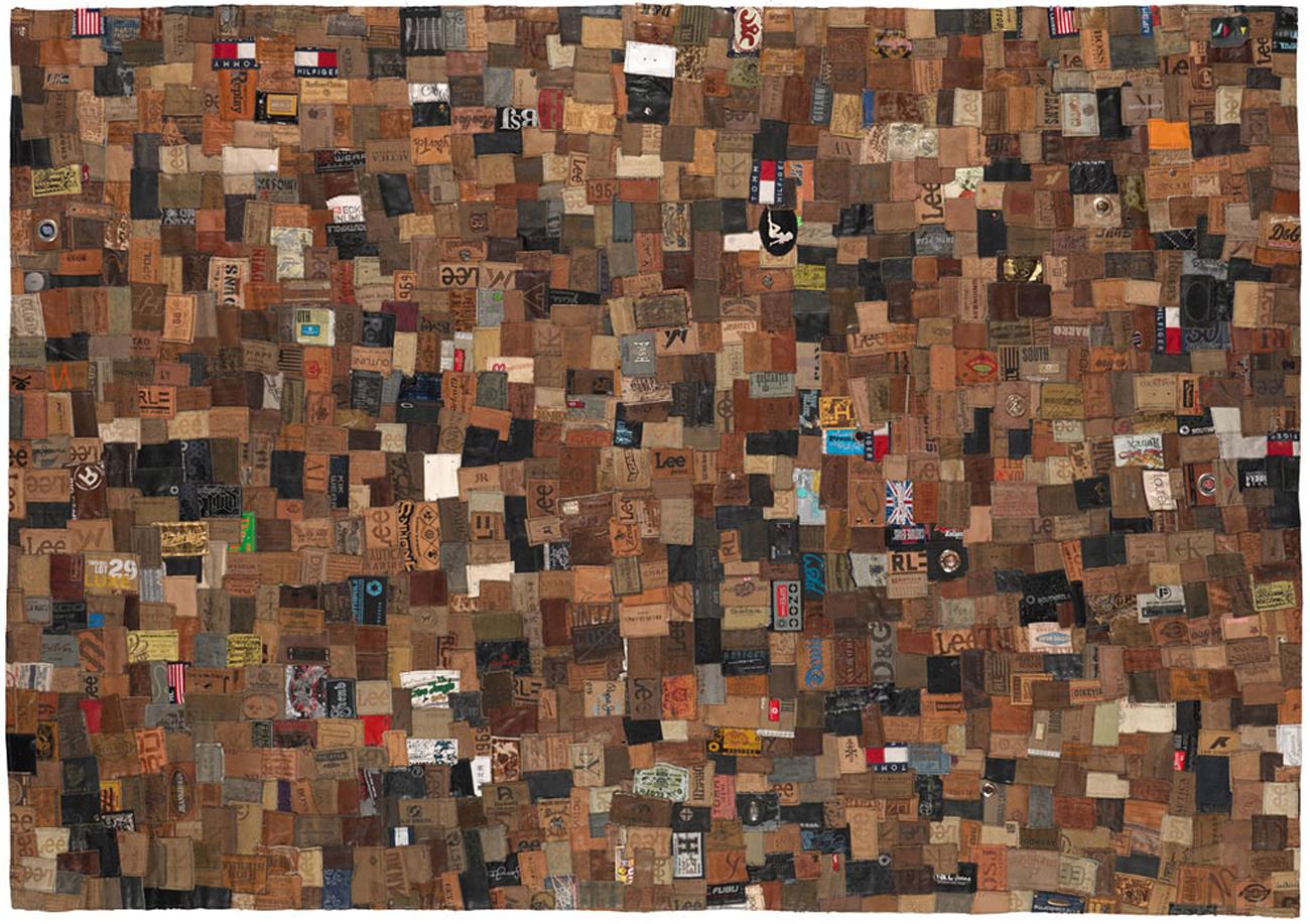 vintage denim labels carpet