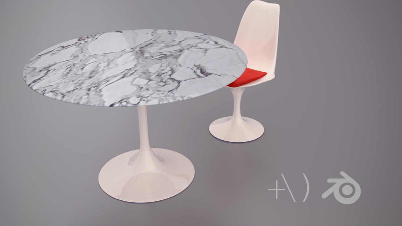 Saarinen Table and chair